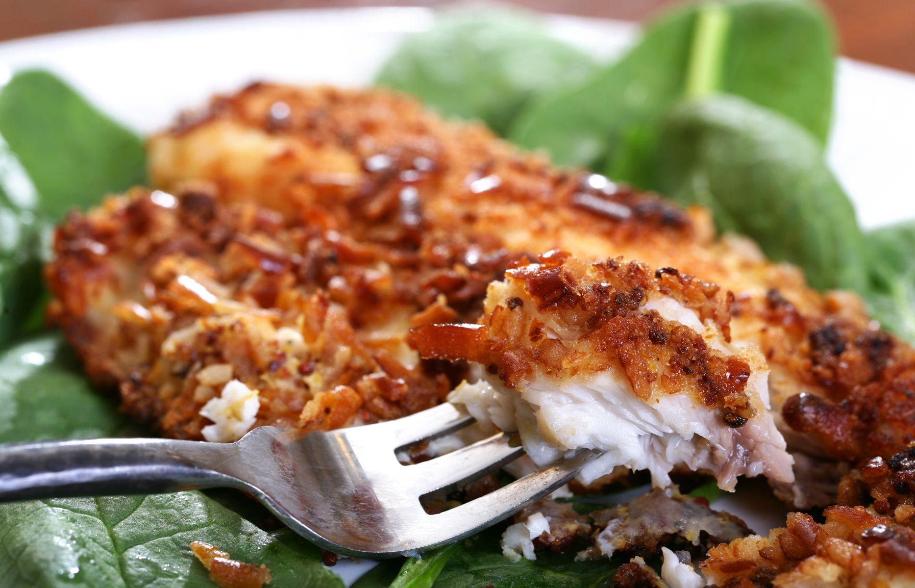 Speise gebackener Fisch