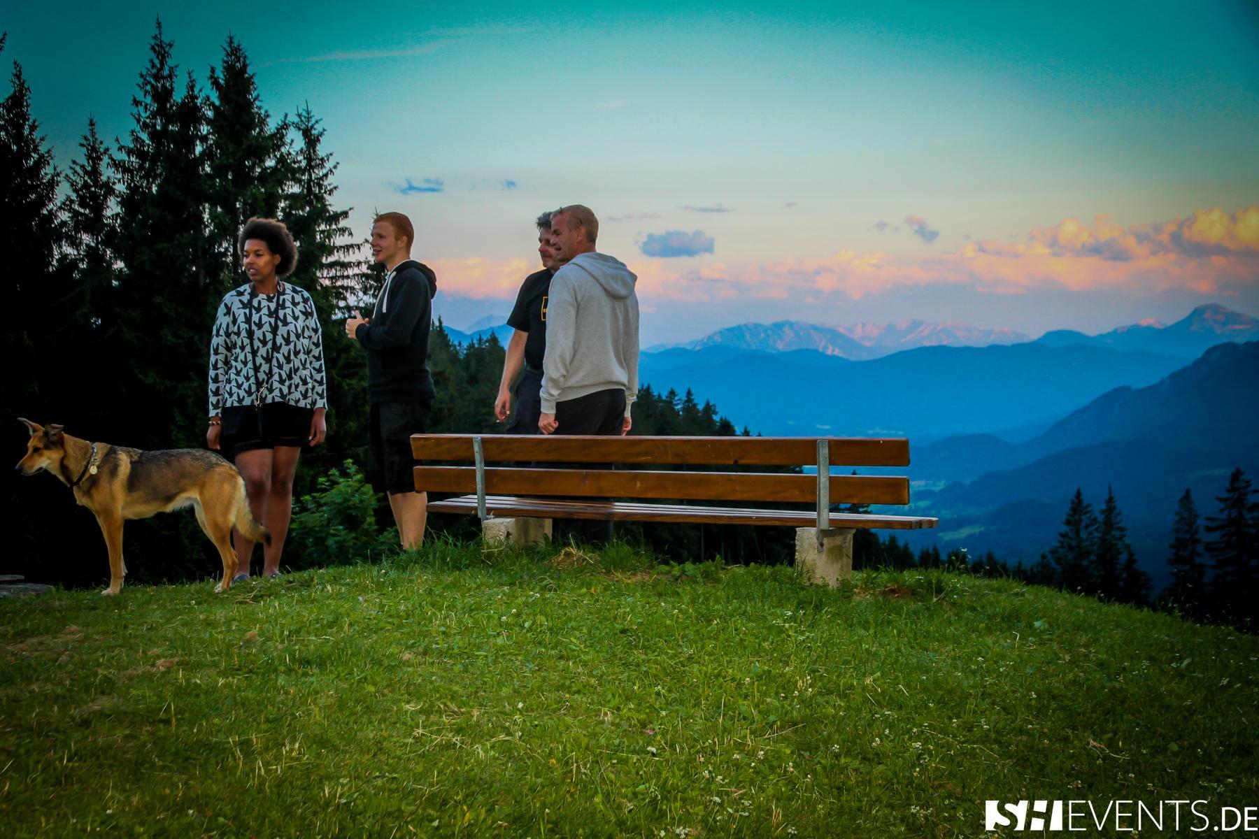 Panoramaaussicht in den Bergen