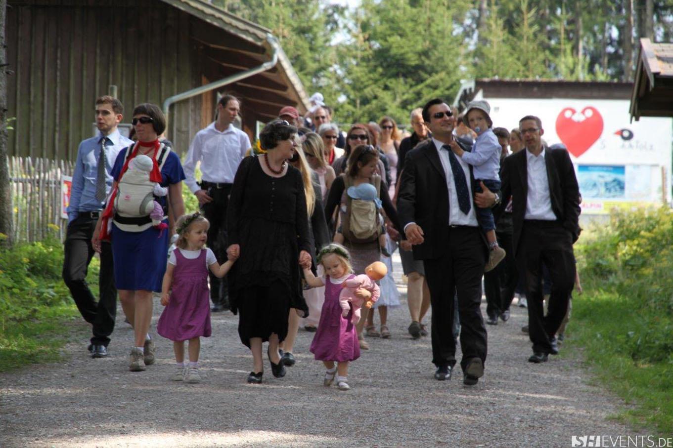 Hochzeit auf der Hütte