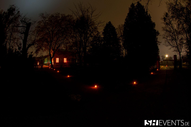 Eisernes Haus Event im Dunkeln
