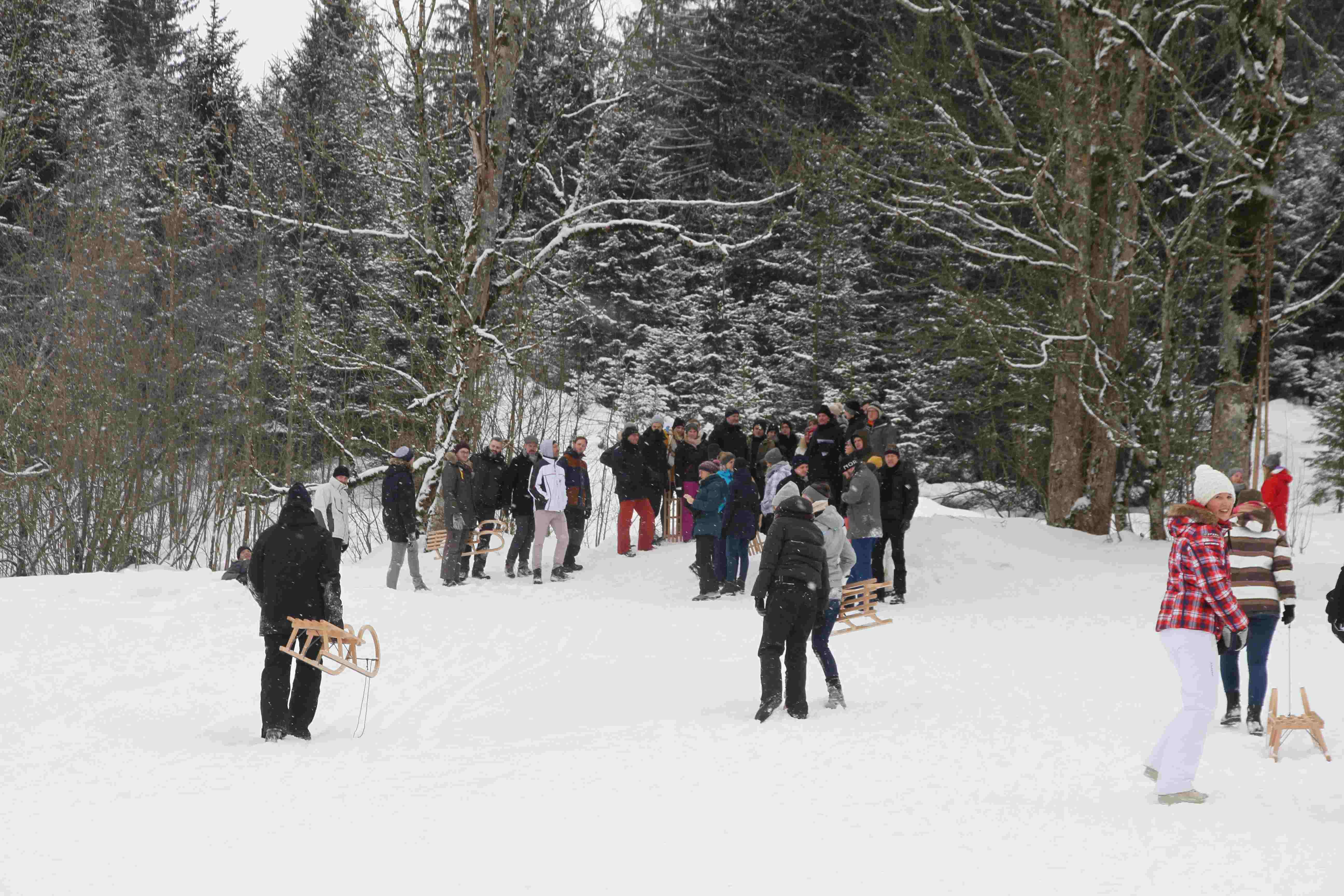 Teambuilding im Schnee