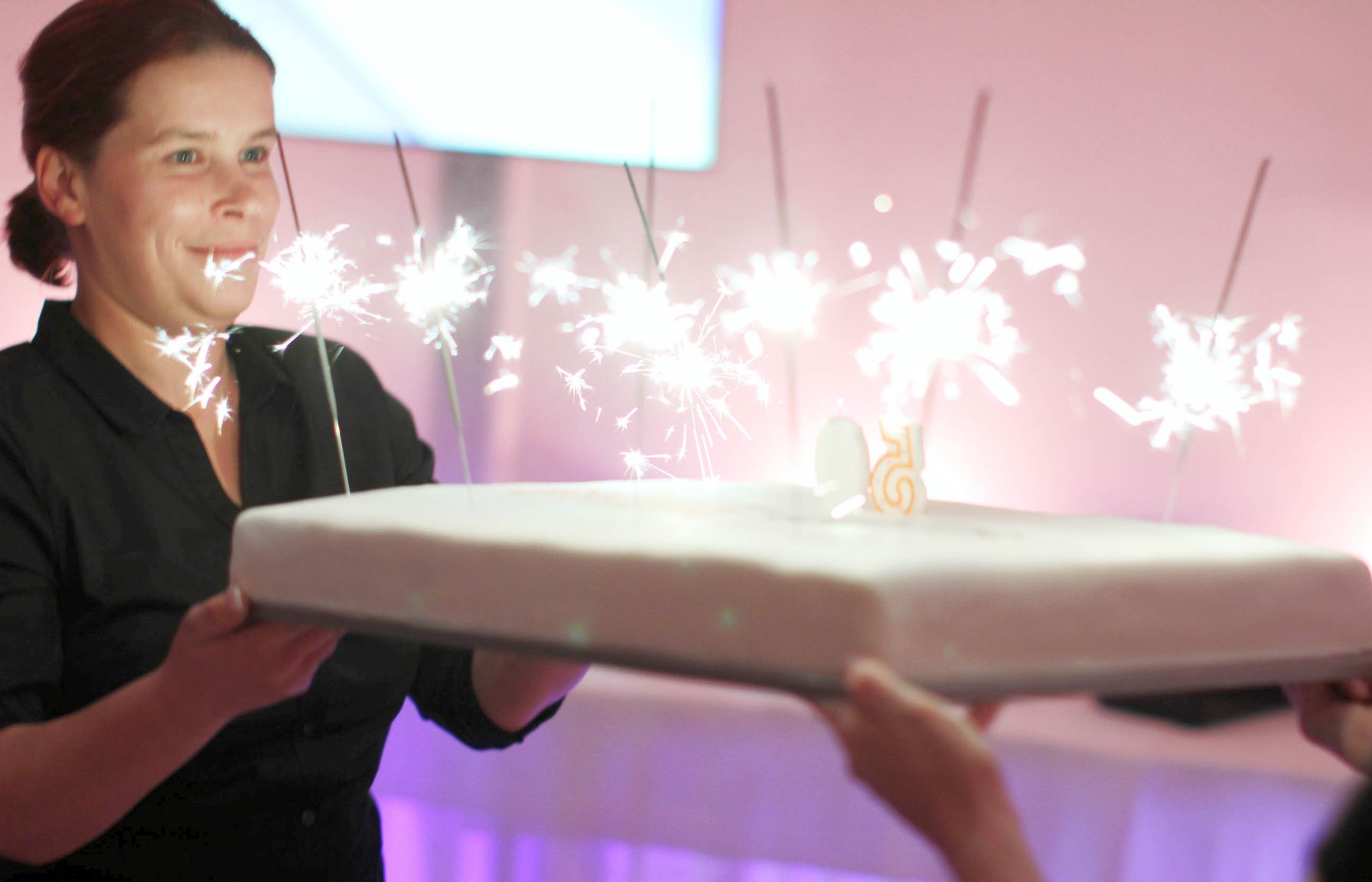 50er Geburtstag mit Kuchen