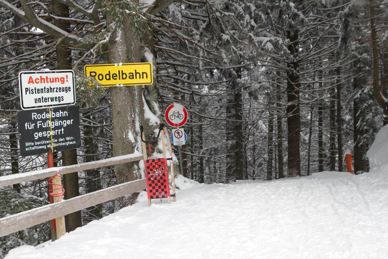 Schneepiste der Winterrodelbahn