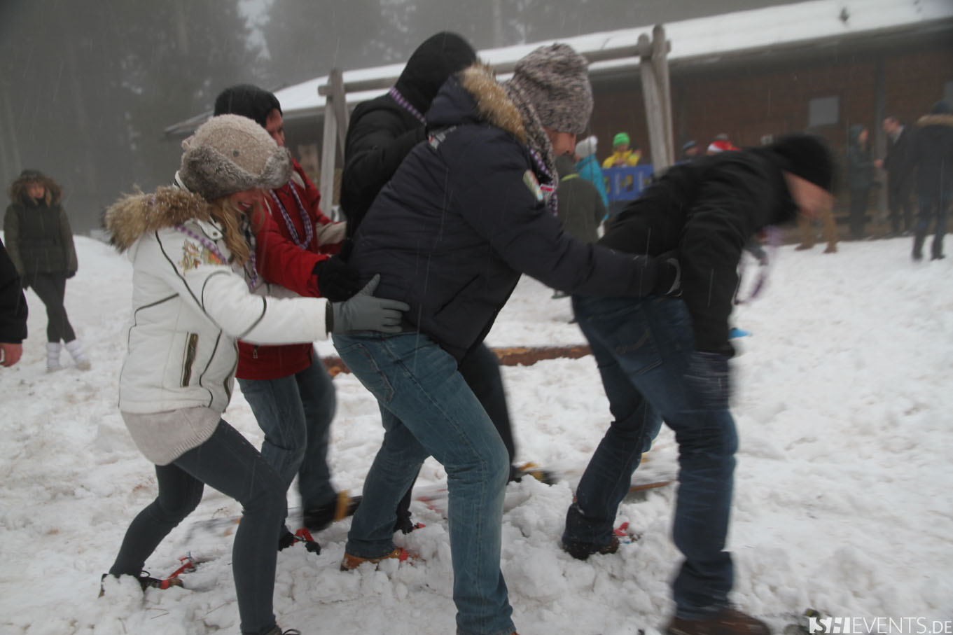 Menschen im Schnee
