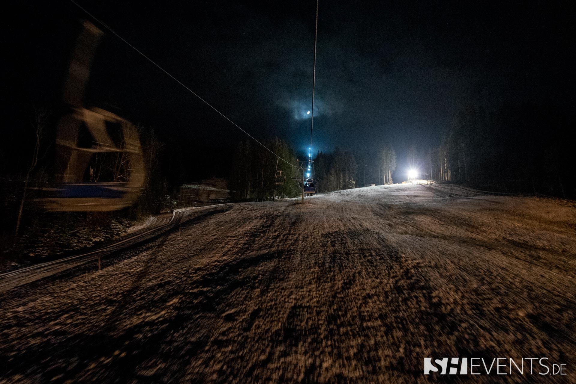 Lift in der Nacht