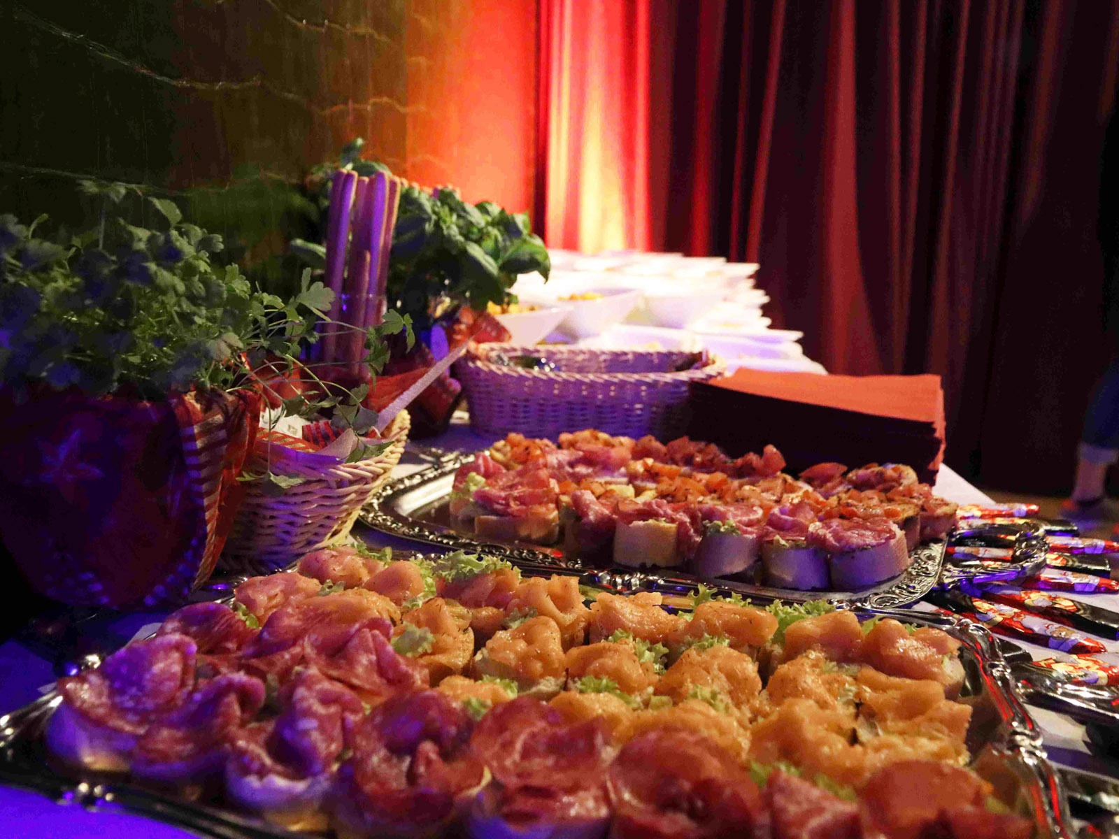 Fingerfood als Vorspeise beim KinoEvent