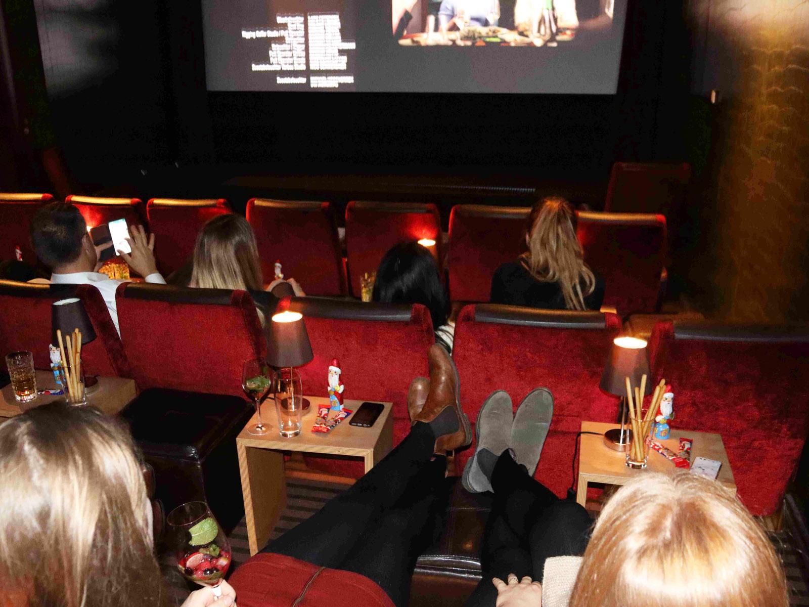 Nahaufnahme Kinosaal