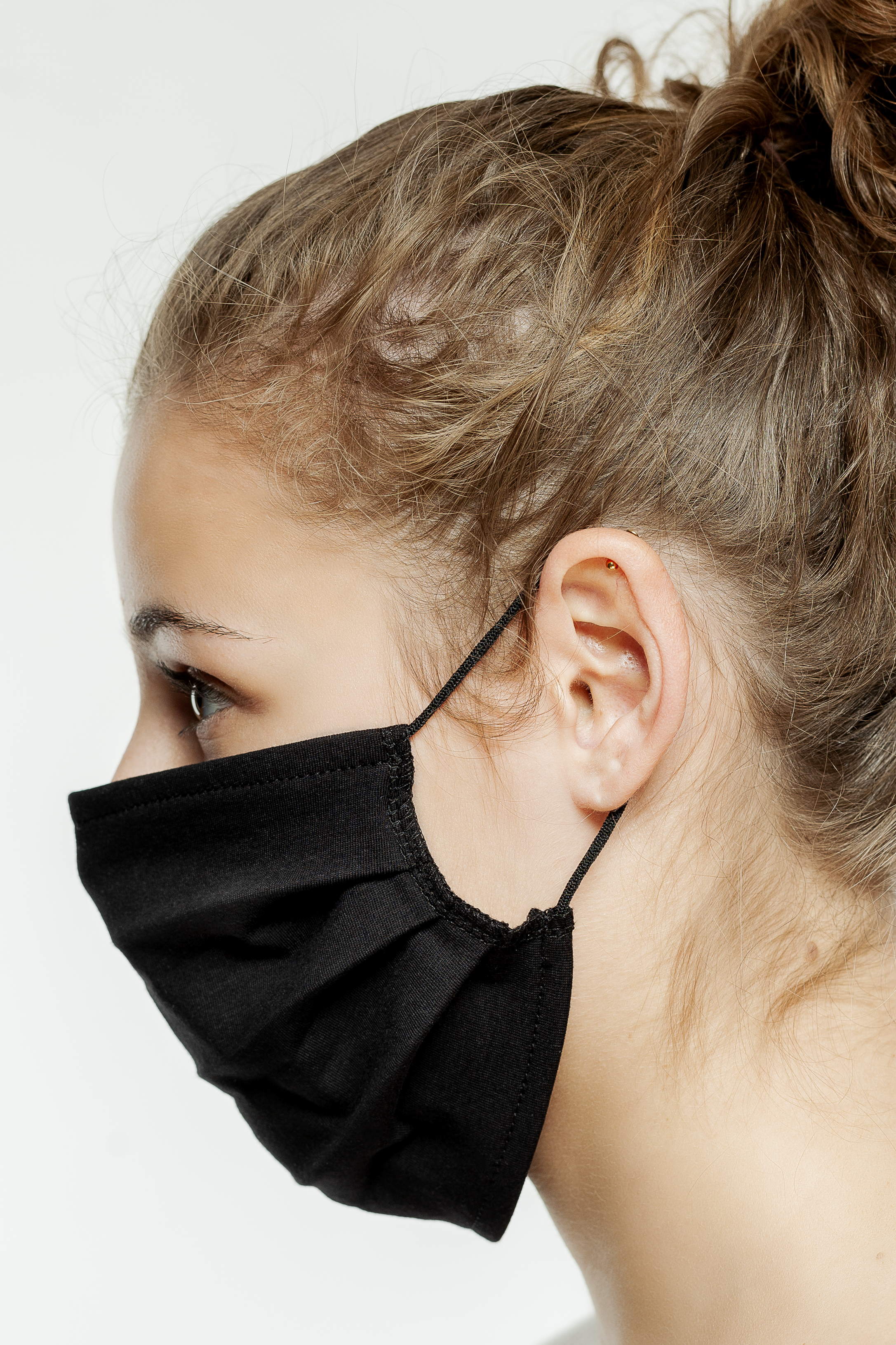 hochwertige Mund- und Nasenmasken schwarz