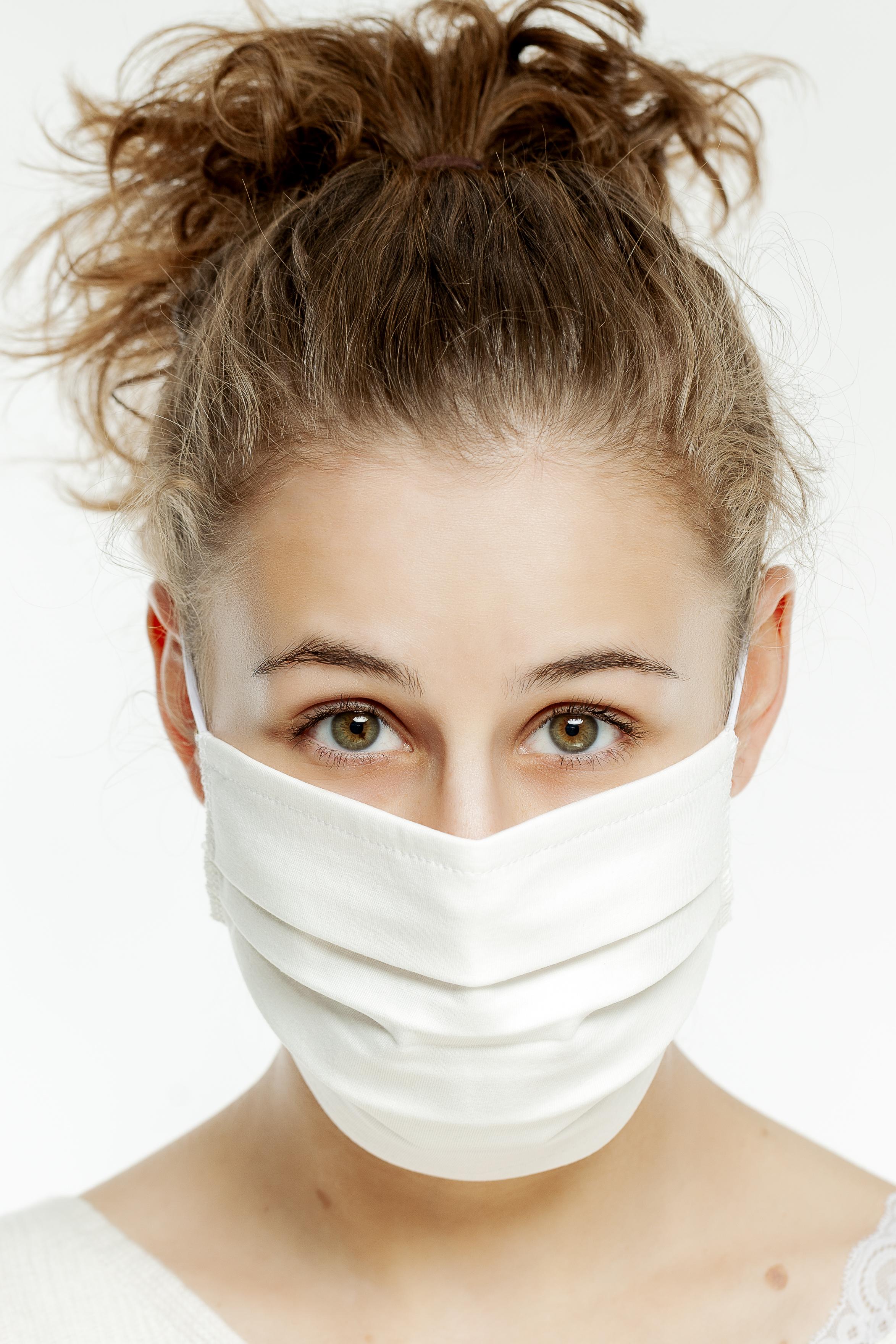 hochwertige Mund- und Nasenmasken weiß