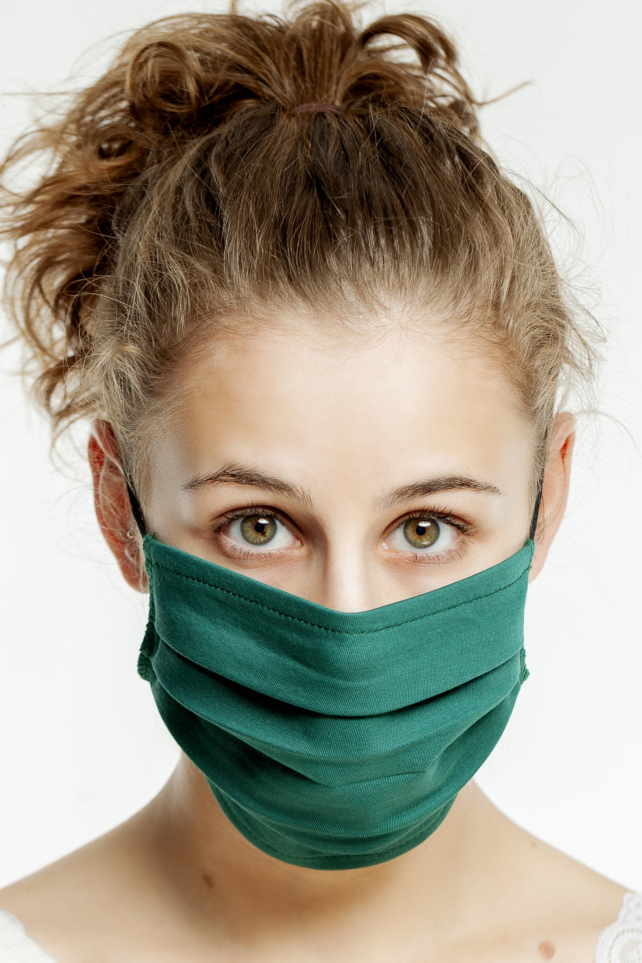 hochwertige Mund- und Nasenmasken grün