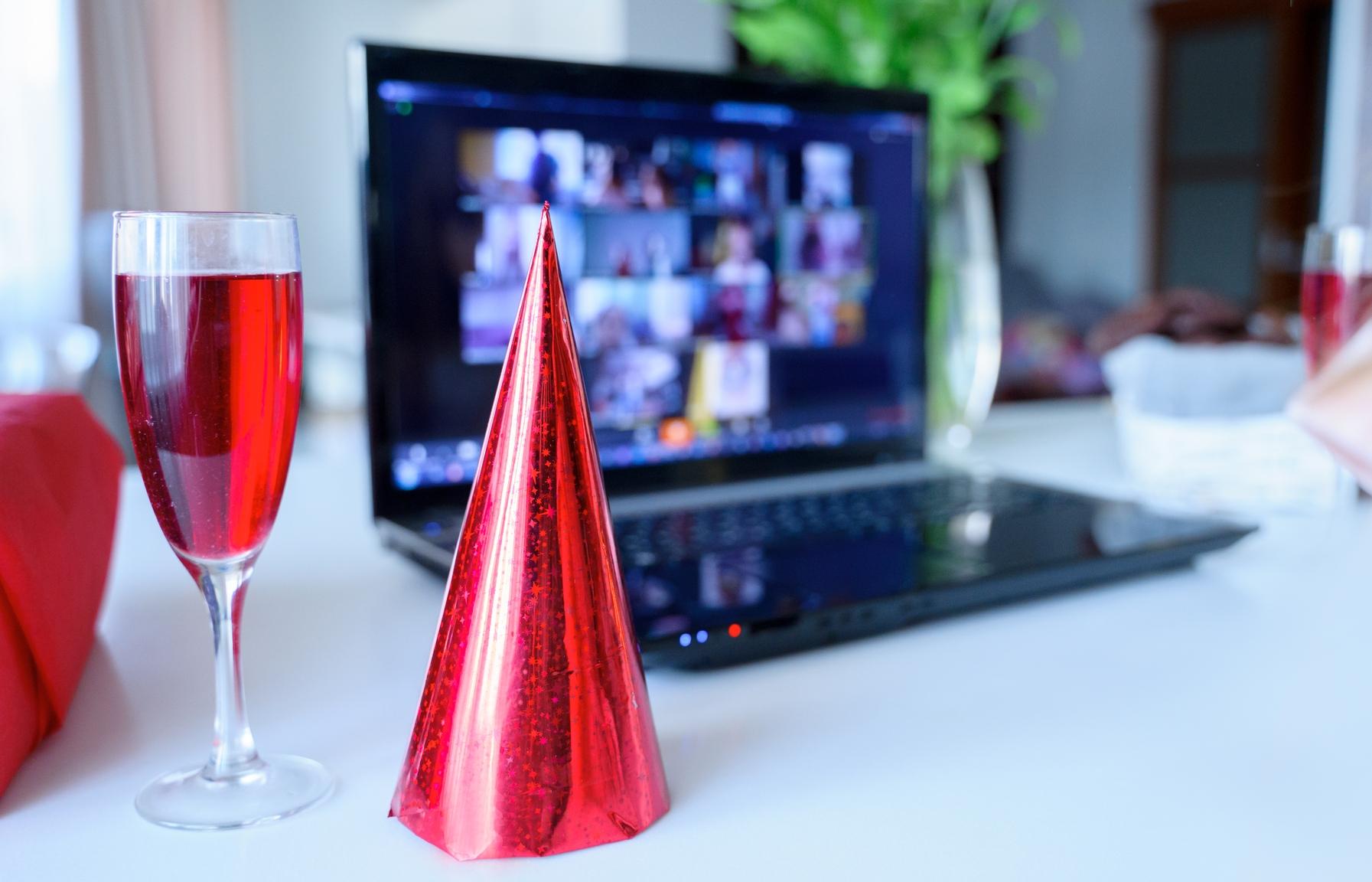 Virtuelles Event mit Drink